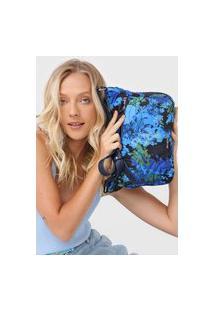 Bolsa Desigual Across Body Bag Camoflower Azul-Marinho