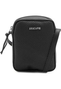 Bolsa Anacapri Textura Preta