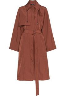 Joseph Trench Coat Com Cinto - Marrom