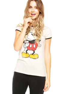 Blusa Cativa Mickey Disney Bege