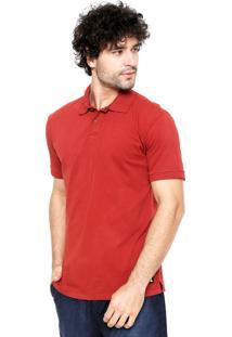 Camisa Polo Redley Meia Malha Vermelha