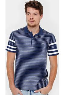 Camisa Polo Lacoste Piquet Listras Regular Fit Croco Shade Masculina - Masculino