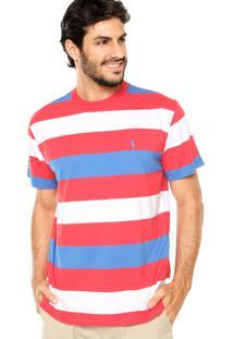 Camiseta Aleatory Tricolor Branca/Azul/Vermelha