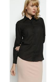 Camisa Lisa - Preta - Moisellemoisele