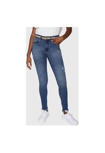 Calça Jeans Lez A Lez Skinny Puídos Azul