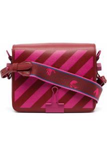 Off-White Diag Stripe Crossbody Bag - Vermelho