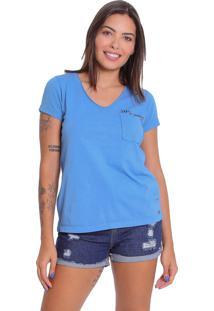 Camiseta T-Shirt Le Julie De Algodão Azul - Kanui