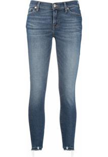 7 For All Mankind Calça Jeans Com Efeito Desbotado - Azul