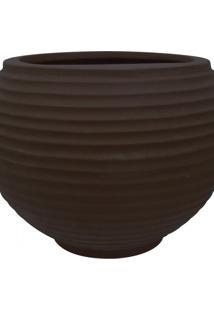 Vaso Para Plantas Redondo Em Polietileno 54 Esfera Lattice 46Cmx37Cm Japi Café