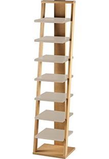Estante Prateleira Suspensa Stairway Maxima Palha/Marrom Claro