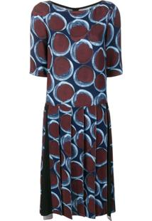 Marni Vestido Com Estampa Gráfica - Azul