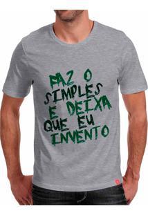 Camiseta Casual Sport Faz O Simples Cinza
