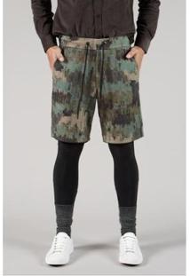 Bermuda Moletom Full Wild Reserva Masculina - Masculino-Verde Militar