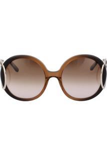 ... Óculos De Sol Chloé Ce703S 233 56 Marrom Degradê 0bf0f5f533