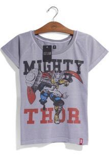 Camiseta Feminina Marvel Thor - Era De Prata - Feminino-Cinza