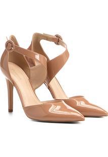 Scarpin Shoestock Salto Alto Easy Chic - Feminino-Nude