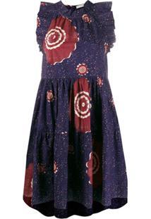 Ulla Johnson Vestido Reto Tasmin Com Brilho - Azul