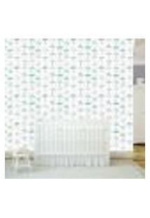 Papel De Parede Adesivo - Nuvem Guarda-Chuva Baby - 079Ppb