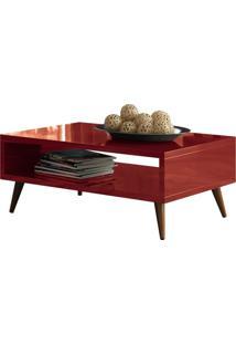 Mesa De Centro Decorativa Lyam Decor Lara Vermelho