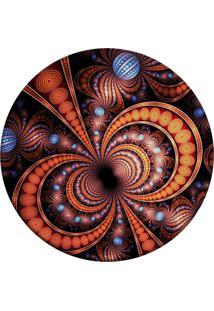 Tapete Love Decor Redondo Wevans Abstrato Multicolorido 84Cm