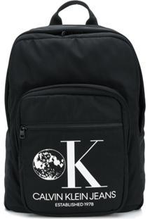 Calvin Klein Jeans Est. 1978 Logo Print Backpack - Preto