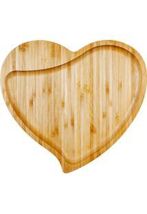 Petisqueira Formato De Coração Bambu Welf