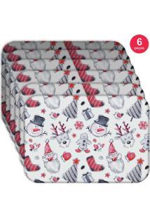 Jogo Americano Love Decor Wevans Lux Christmas Kit Com 6 Pçs