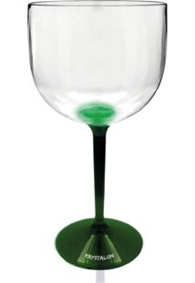 Taça Gin Bicolor Verde De Acrílico