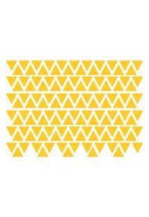 Adesivo De Parede Triângulos Amarelos 121Un