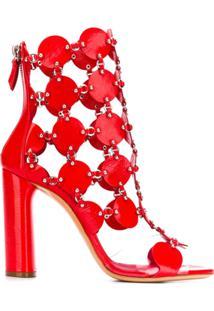 Casadei Ankle Boot - Vermelho