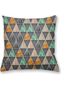 Capa De Almofada Decorativa Own Geométrica Triângulos Cinza 45X45 - Somente Capa