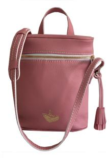Bolsa Line Store Leather Cantil Couro Rosa. - Rosa - Feminino - Dafiti