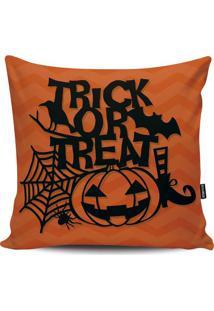 Capa Para Almofada Halloween- Laranja & Preta- 45X45Stm Home