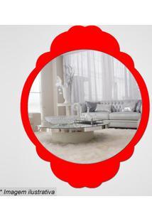 Espelho Retro- Espelhado & Vermelho- 35X27,5X5Cmcia Laser