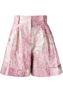 Dolce & Gabbana Short De Jacquard E Lurex - Rosa