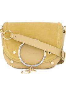 See By Chloé Mara Stud-Embellished Crossbody Bag - Verde