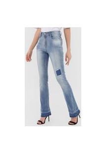 Calça Jeans Lança Perfume Bootcut Íris Azul