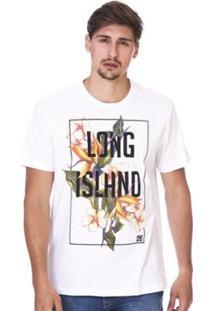 Camiseta Long Island Qf - Masculino-Branco