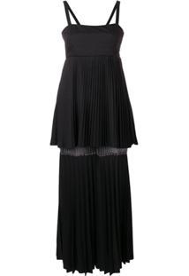 Atu Body Couture Vestido Nightfall Com Pregas - Preto