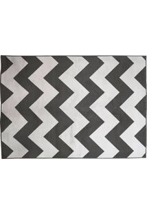 Tapete Belga Geometric Desenho 07 0.40X0.60 - Edantex - Preto / Branco