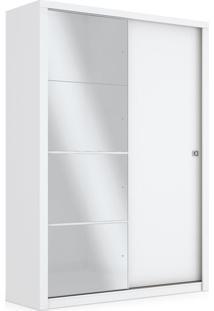 Armário 02 Portas Com Espelho, Branco, Otto