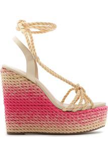 Sandália Anabela Bold Tressê Tie-Dye Pink | Schutz