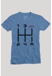 Camiseta Quinta Marcha Reserva Masculina - Masculino-Azul
