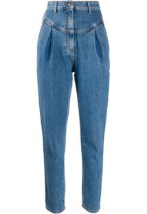 Philosophy Di Lorenzo Serafini High-Rise Tapered Jeans - Azul