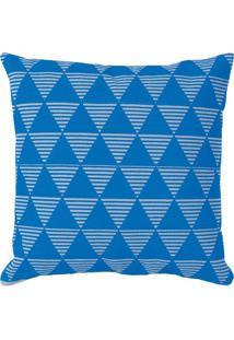 Capa Para Almofada Urban Geométrica- Azul Escuro & Cinzaartesanal