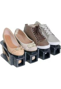 Sapateira 20 Sapatos Kit Rack Organizador De Calcados Tenis E Sapato Armario Double 10 Pares