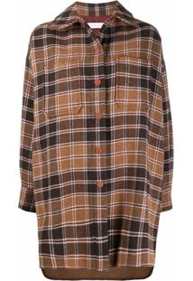 See By Chloé Casaco Oversized Xadrez - Multicolorbrown