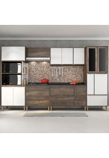 Cozinha Compacta C/Tampo Allure03 – Fellicci - Naturalle / Branco