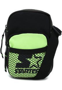 Bolsa Starter Shoulder Bag Neon Verde/Preta