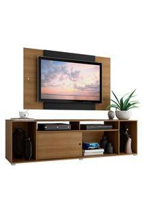 Rack Madesa Cancun E Painel Para Tv Até 58 Polegadas - Rustic/Preto Marrom